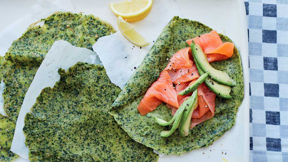 Energy-boosting spelt and spinach crepes with avocado by Rachel Kelly_Thumbnail