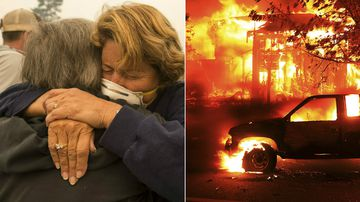 Deadly wildfire 'melted cars onto roads'