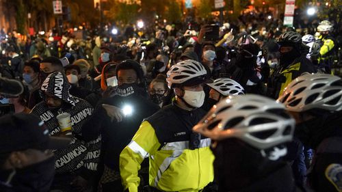 Tensions rising outside White House as election results loom