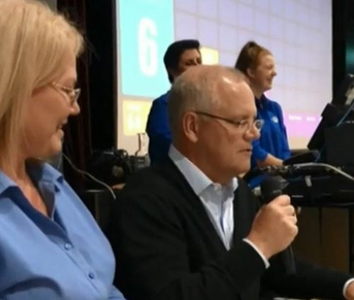 190412 Federal election 2019 Scott Morrison heckled western Sydney bingo