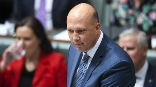 "Home Affairs Minister Peter Dutton has accused former Border Force chief Roman Quaedvlieg of ""grooming"" a woman 30 years younger than himself."