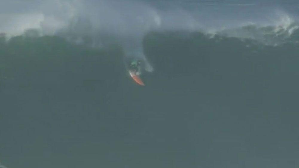 British surfer lucky to survive big wave