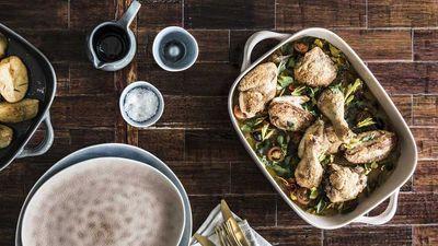 "<a href=""http://kitchen.nine.com.au/2017/05/25/14/24/the-aviarys-baked-chicken"" target=""_top"">The Aviary's baked chicken</a><br /> <br /> <a href=""http://kitchen.nine.com.au/2016/06/06/23/01/winner-winner-chicken-dinners"" target=""_top"">More chicken recipes</a>"