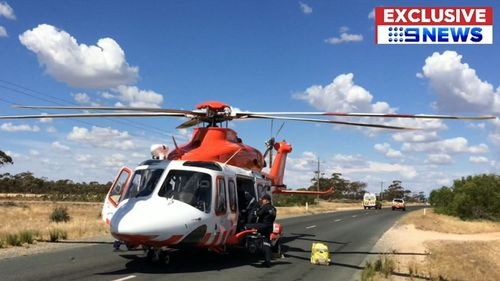 Police were called to a rural property in Waugorah, near the border of New South Wales and Victoria just before 11am today. (9NEWS)