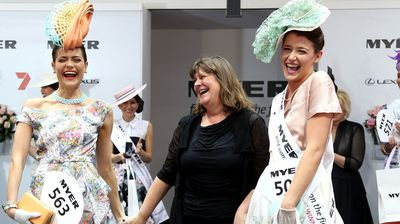 Myer Fashions on the Field Women's Racewear Daily Final. (Getty)