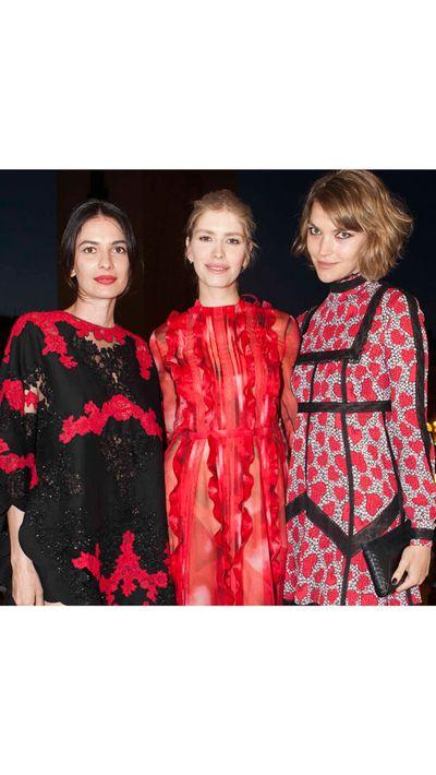 <p>Leila Yavari, Elena Perminova and Arizona Muse at a Valentino cocktail party for Cash & Rocket.</p>