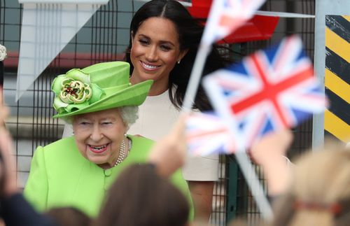 It's the first time Meghan went on a royal trip without Prince Harry. Picture: Getty