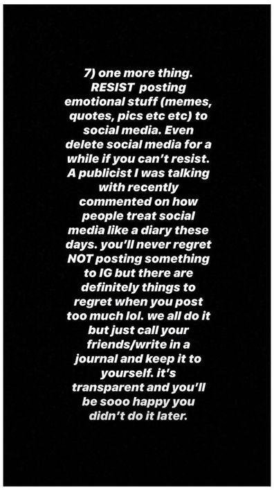 Kaitlynn Carter, Instagram, advice, tips, message, breakup
