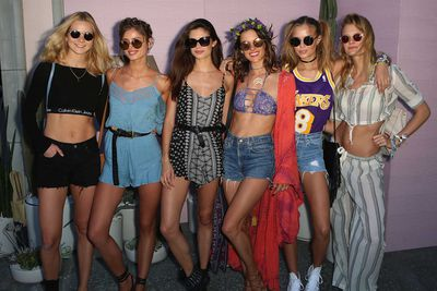 It's Coachella season, that time of the year when models, celebrities and mortals alike pull out their cut-off shorts and descend upon Palm Springs for the annual music extravaganza. While the field was dominated by crop tops and denim, a handful of famous revellers managed to put a personal spin on festival staples. Click through to see what everyone wore.