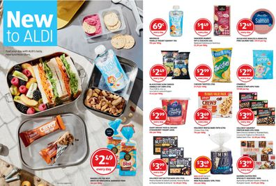The discount retailer is selling lunchboxes as well as treats to go in them.