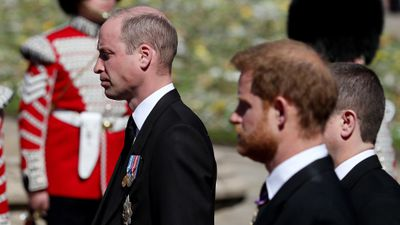 Prince William at Prince Philip's funeral