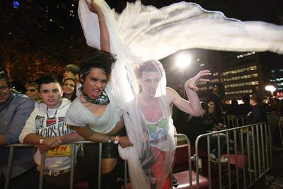 The best fan fashion at Lady Gaga's Sydney show - GAGA LIVE at Town Hall, Sydney, July 13, 2011.