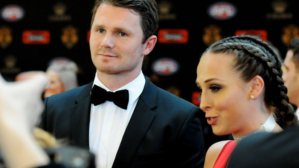 Patrick and Mardi Dangerfield at the Brownlow Medal. (AAP)