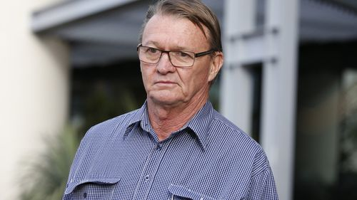 Work Place Health and Safety principal inspector Ian Stewart, is seen leaving after attending the inquest into the Dreamworld disaster at the Southport Courthouse on the Gold Coast, yesterday.