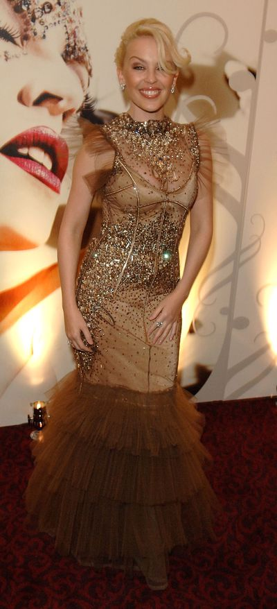 Kylie Minogue  at the Music Industry Trusts' Awards in London in October, 2007