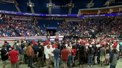 Trump campaign officials had said prior to the event that demand far outstripped the capacity of the venue.