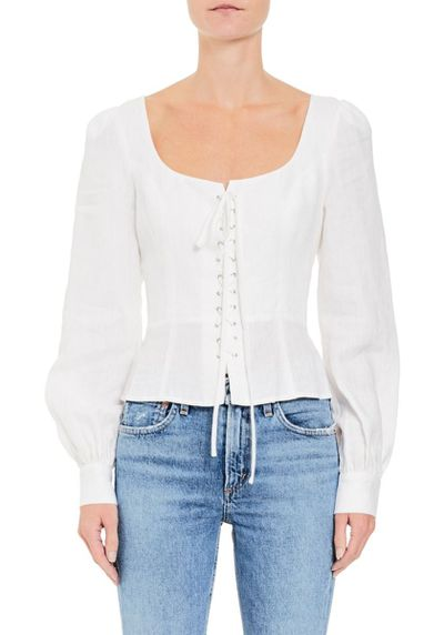 "<a href=""https://www.tuchuzy.com/heidi-lace-up-linen-white-chosen-by-tuchuzy-cho-s18t01999wh"" target=""_blank"" title=""Chosen Piper Lace Up Linen Blouse in White, $179.95"" draggable=""false"">Chosen Piper Lace Up Linen Blouse in White, $179.95</a>"