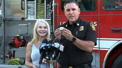 Getty fire wedding ring discovered by LA firefighters 3