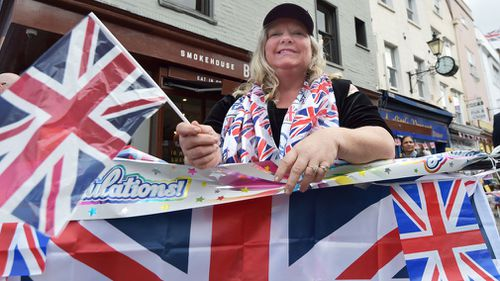 Royal fan Kerry Evans from near Hull, bags her spot in Windsor ahead of the wedding.