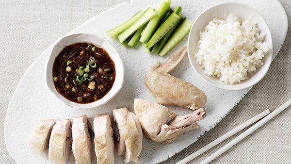 Hainan chicken and rice