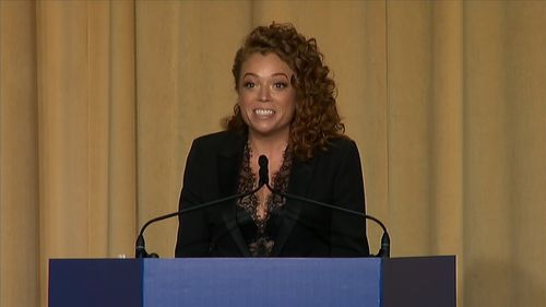 Michelle Wolf was the after-dinner entertainment for the White House press corps and their guests.