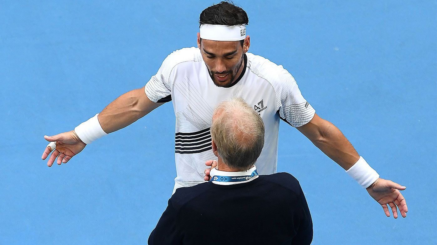 Australian Open clash descends into chaos as notorious hotheads clash with chair umpire