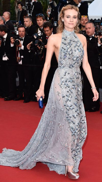 <p><strong>Day four<br></strong>Diane Kruger in Prada</p>