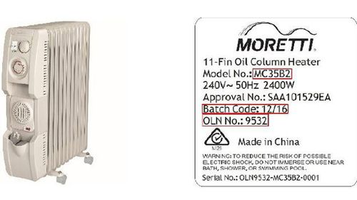 Bunnings issues urgent recall for oil heater