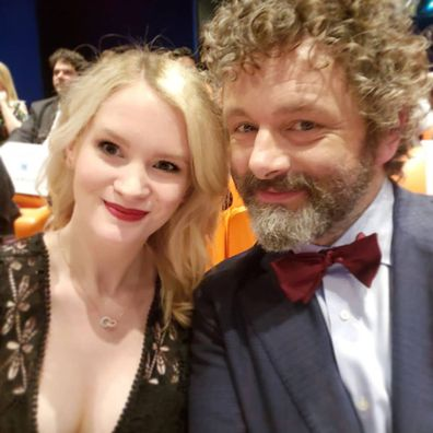 Anna Lundberg and Michael Sheen at the NYC premiere for Good Omens