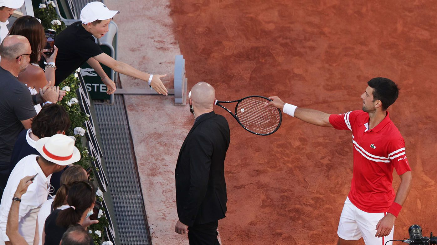 Novak Djokovic gives racquet to boy after Roland Garros final, kid loses his mind