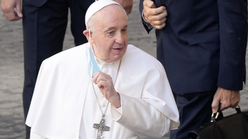 Pope Francis had part of his lung removed as a young man. (AP Photo/Gregorio Borgia)