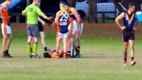 Jones was at the centre of a series of ugly incidents caught on camera during the division seven quarter final between Salisbury West and Trinity Old Scholars.