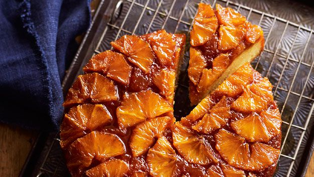 Orange drippy syrup cake