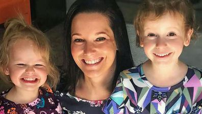 Shanann Watts and her two young daughters.
