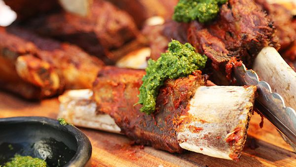 South American beef ribs with chimichurri