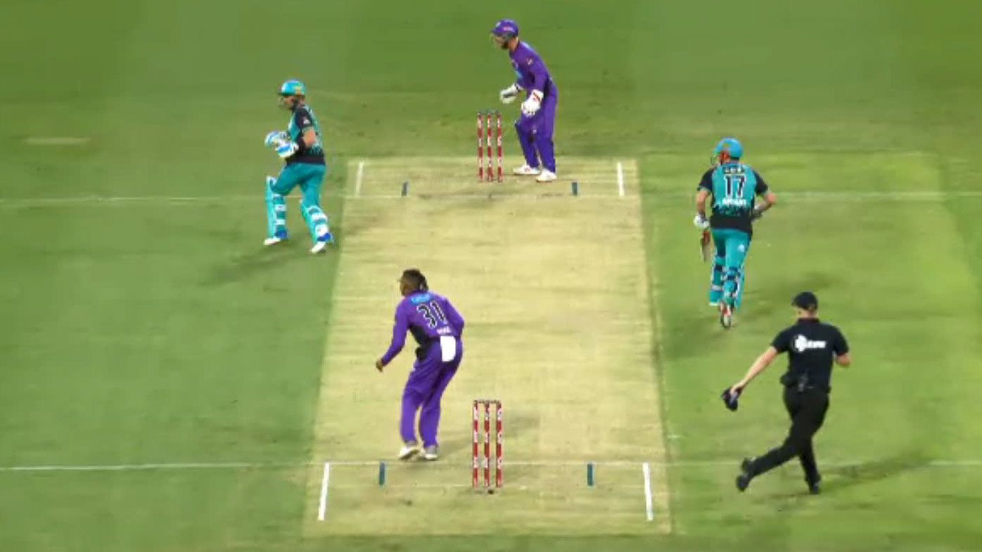 Run out brain fade headlines Hobart Hurricanes' victory over Brisbane Heat