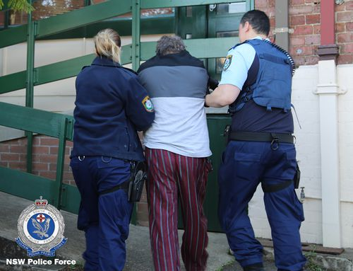 The suspect has been taken back to Ryde police station. Picture: NSW Police