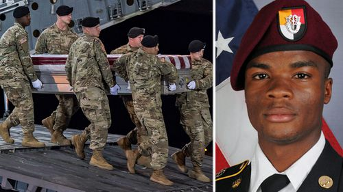 La David Johnson, one of the US soldiers killed in the attack. (AP).