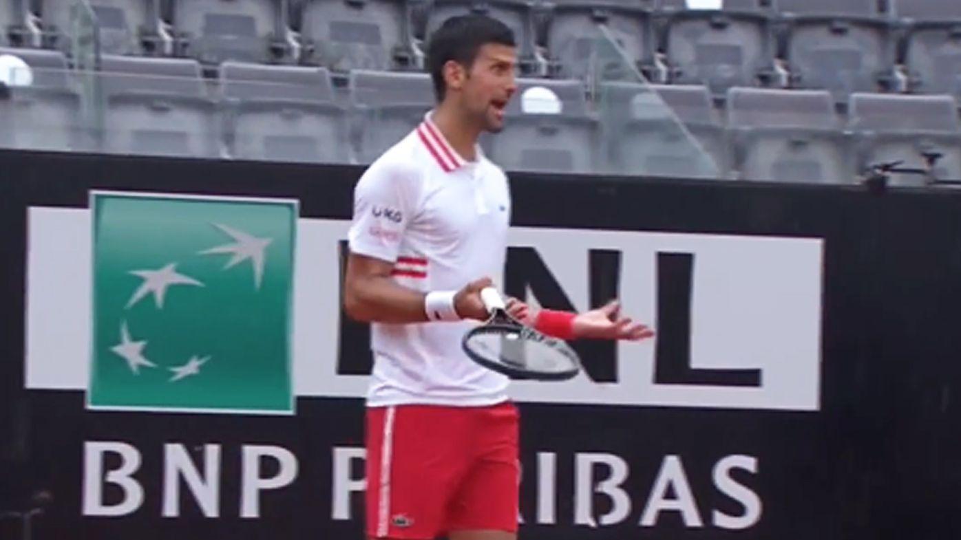 'Screaming' Novak Djokovic goes off at umpire in ugly tantrum