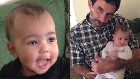 Look at those cheeks! Kim K shares super-cute photos of baby