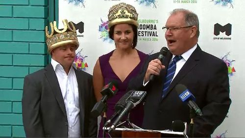 Melbourne Lord Mayor Robert Doyle announced the pair this morning by the Yarra River. (9NEWS)