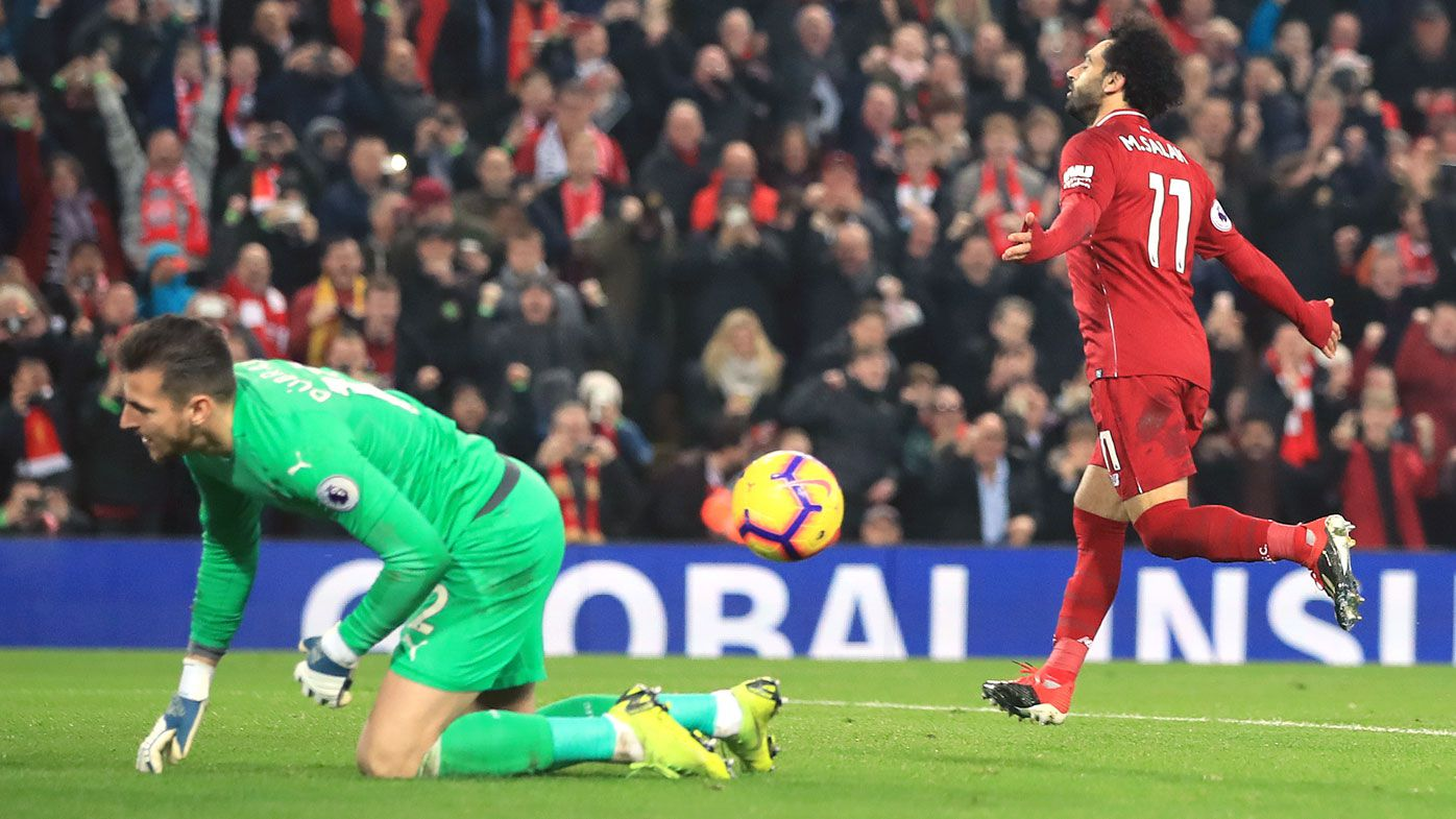 Liverpool go six points clear with Newcastle romp, Manchester City lose
