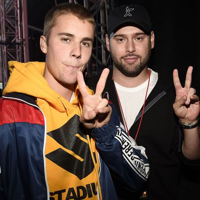 Justin Bieber and Scooter Braun