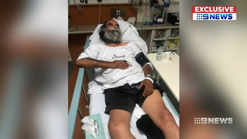 Taxi driver Amrik Thandi was assaulted in Adelaide's north yesterday.