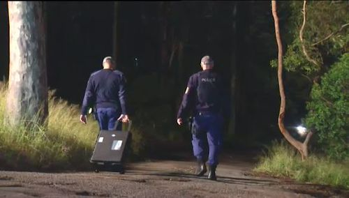 Police have been combing through bushland at Adamstown Heights after the girl, aged 11, was abducted and sexually assaulted. Picture: 9NEWS