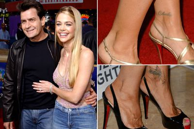 "These bickering exes made sure to get their tatts wiped after their bitter 2005 divorce.<br><br>Charlie removed his ""Denise"" wrist tatt, while Denise has since had her ""Charlie"" tatt refashioned into a butterfly.<br><br>Images: Getty"