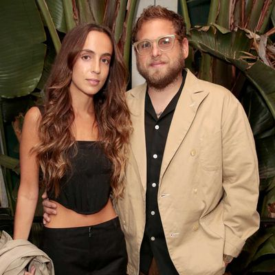Jonah Hill and Gianna Santos