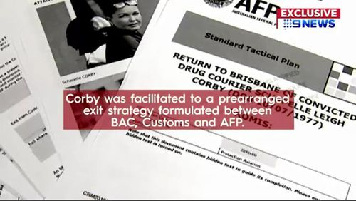 Documents obtained by 9NEWS have shown that convicted drug smuggler Schapelle Corby was smuggled back into Australia last year as part of a secret governement-assisted operation. Picture: 9NEWS.
