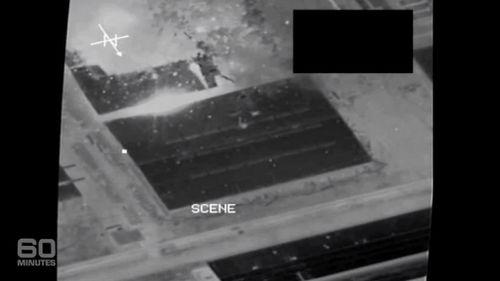 RAAF footage of a bombing raid.