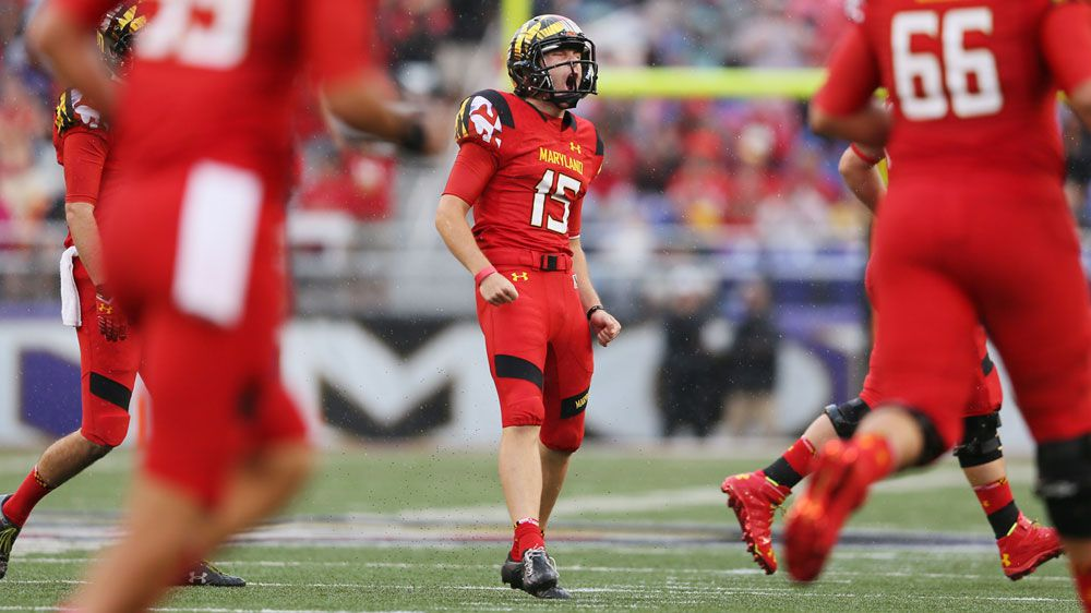 Brad Craddock in action for University of Maryland. (Getty)